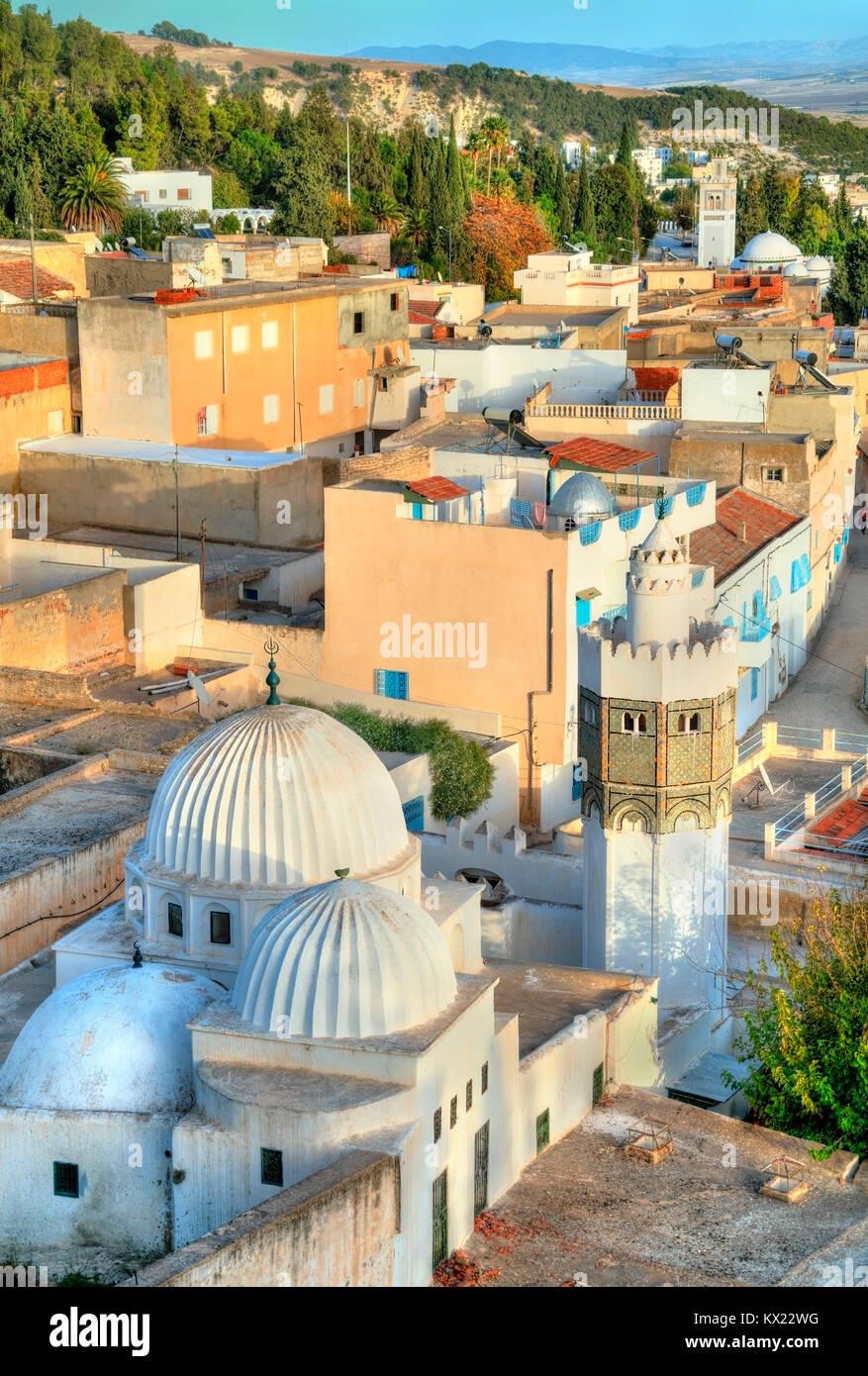 Sidi Bou Makhlouf Moschee in El Kef in Tunesien Stockbild