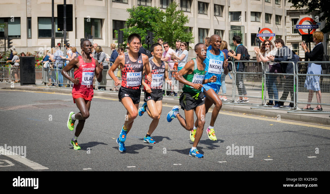 Die Athleten während der IAAF World Championships in London 2017 Stockbild