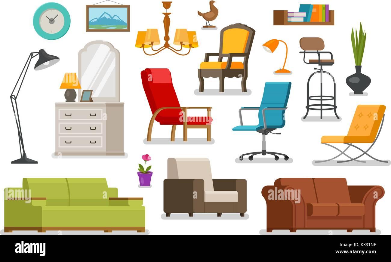 inneneinrichtung mobel mobelhaus konzept vector illustration stockbild