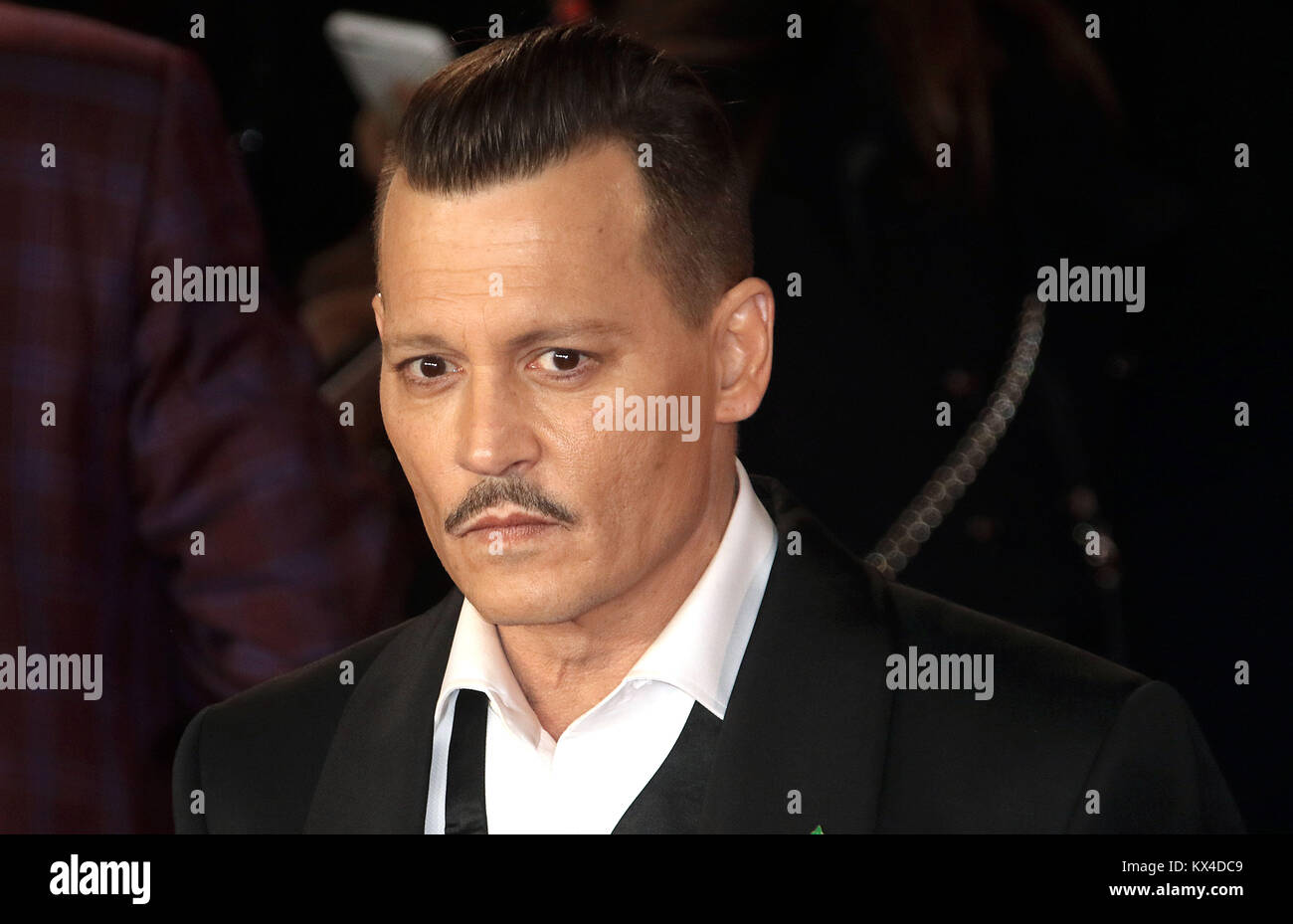 02.November 2017 - Johnny Depp an 'Murder Im Orient Express' Weltpremiere, der Royal Albert Hall in London, Stockbild