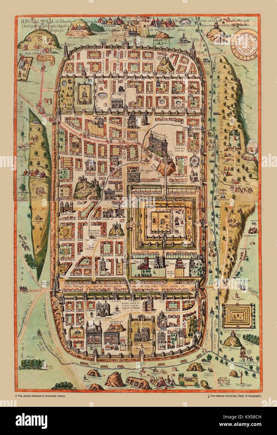 Jerusalem zur Zeit Jesu Stockbild