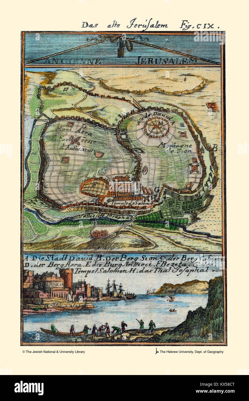 Alten Jerusalems Stockbild