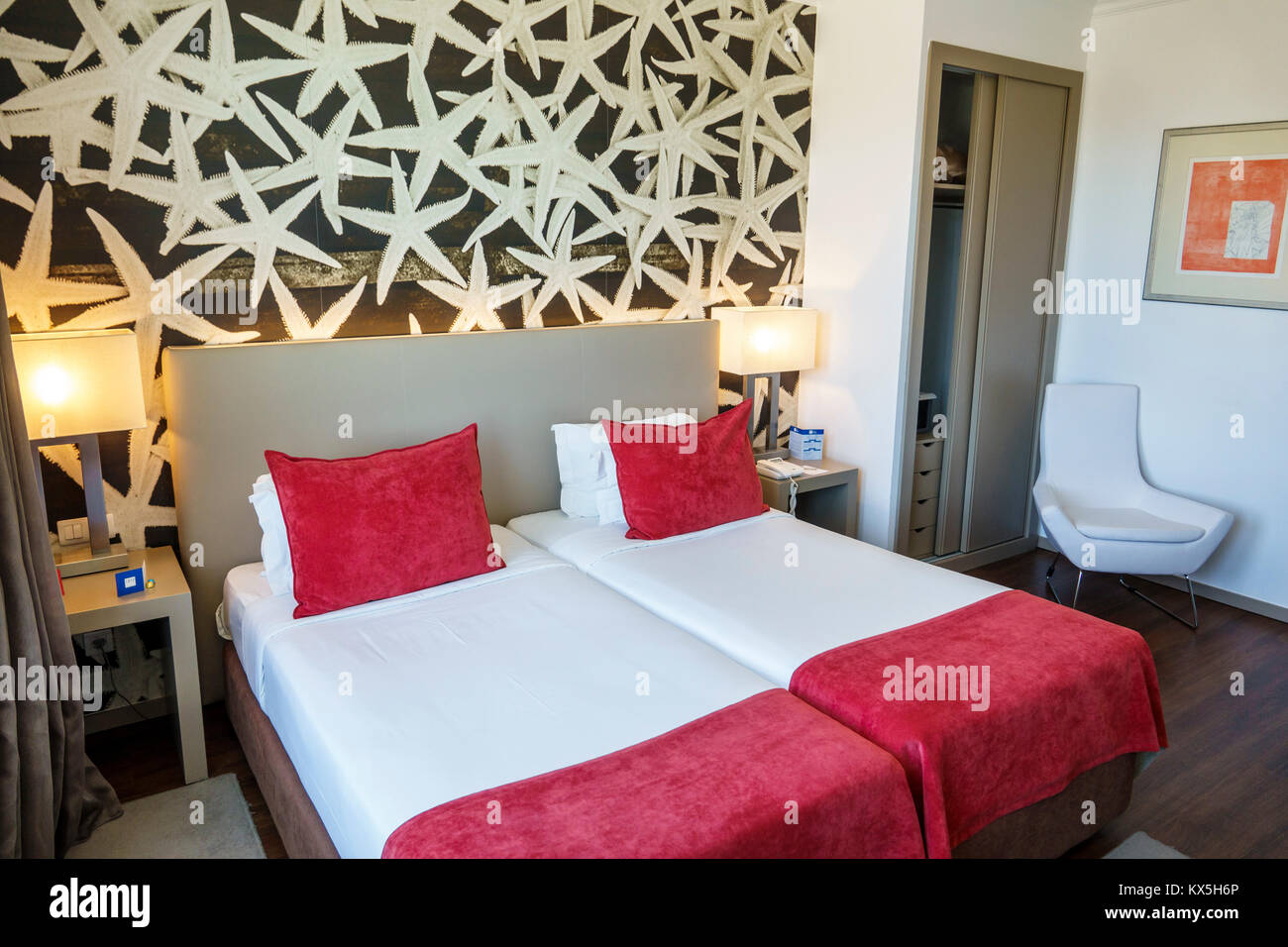 Lissabon Portugal Lissabon Tryp Oriente Oriente Hotel Zimmer Bett ...