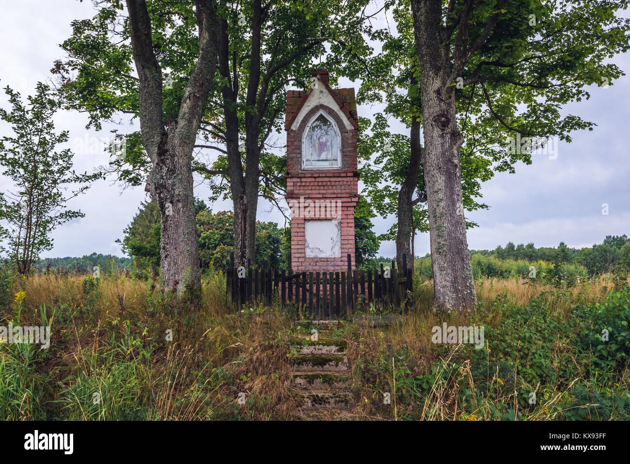 Kleinen Schrein in Pajtuny Dorf in der Woiwodschaft Ermland-Masuren in Polen Stockbild