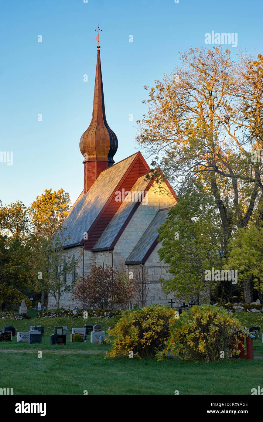 Alstahaug Kirche am Petter Dass Museum, Alstahaug, Nordland, Norwegen Stockbild