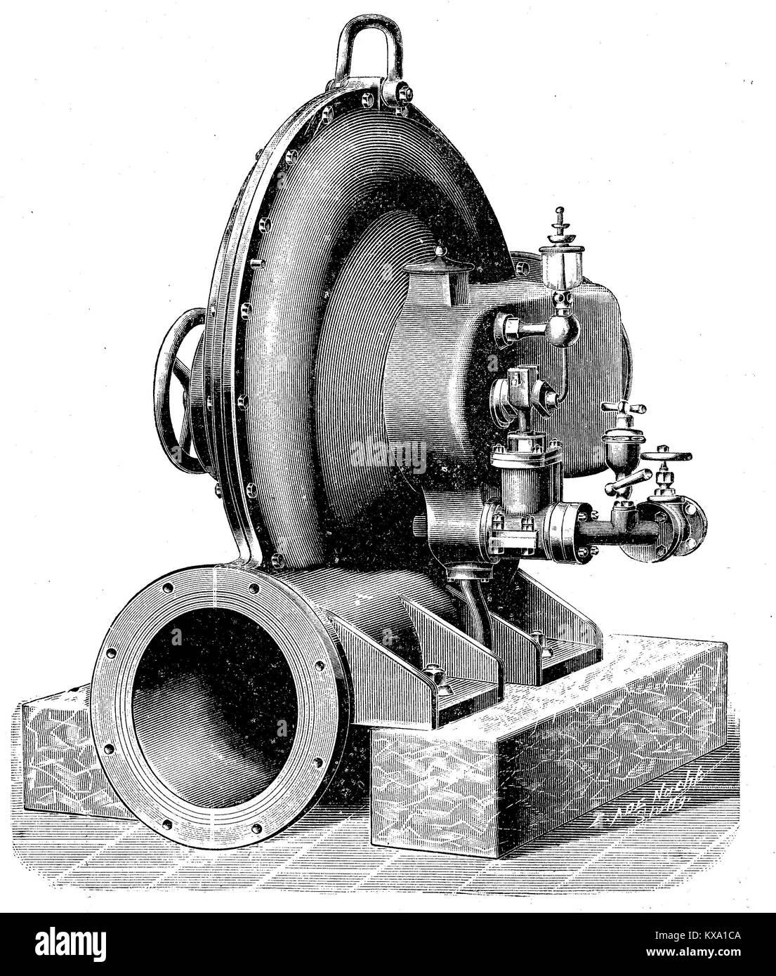 Abbildung: eine Mine Ventilator aus dem Maschinenbau Institut Humboldt in Kalk in der Nähe von Köln, Deutschland, Stockbild