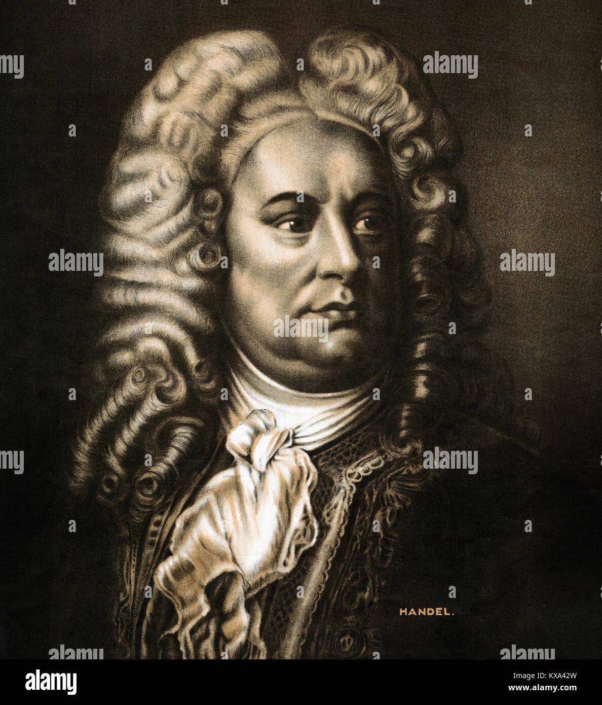 George Friedric Händel in Whig Stockbild
