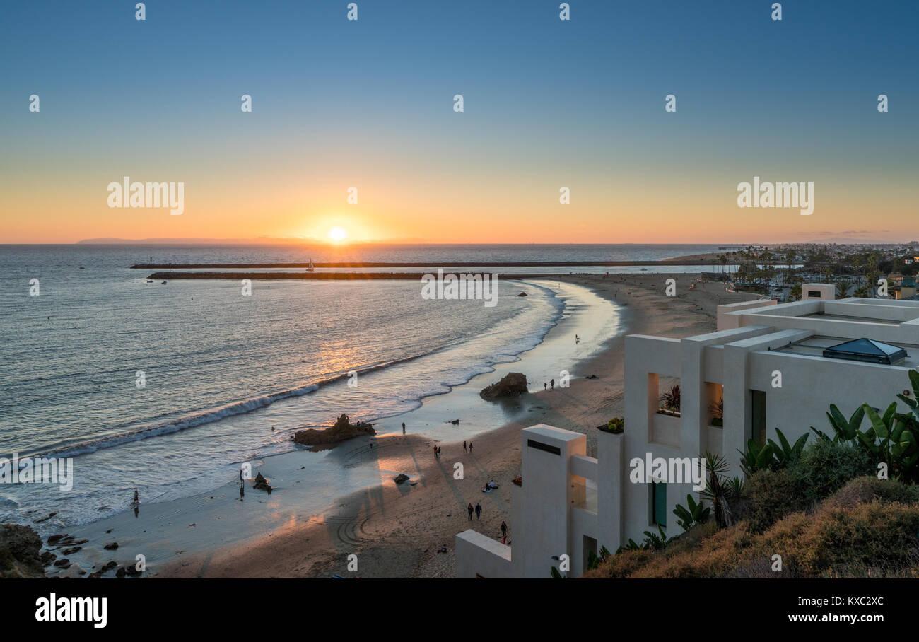 Luxus am Meer gelegenen Häuser an Corona Del Mar in der Nähe von Newport Beach Stockfoto