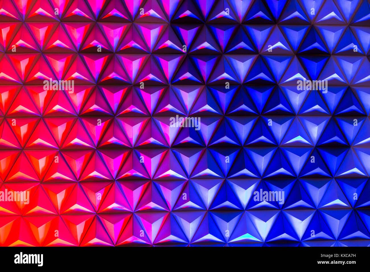 hintergrund, architektur, dekoration konzept. blaue und rote farben