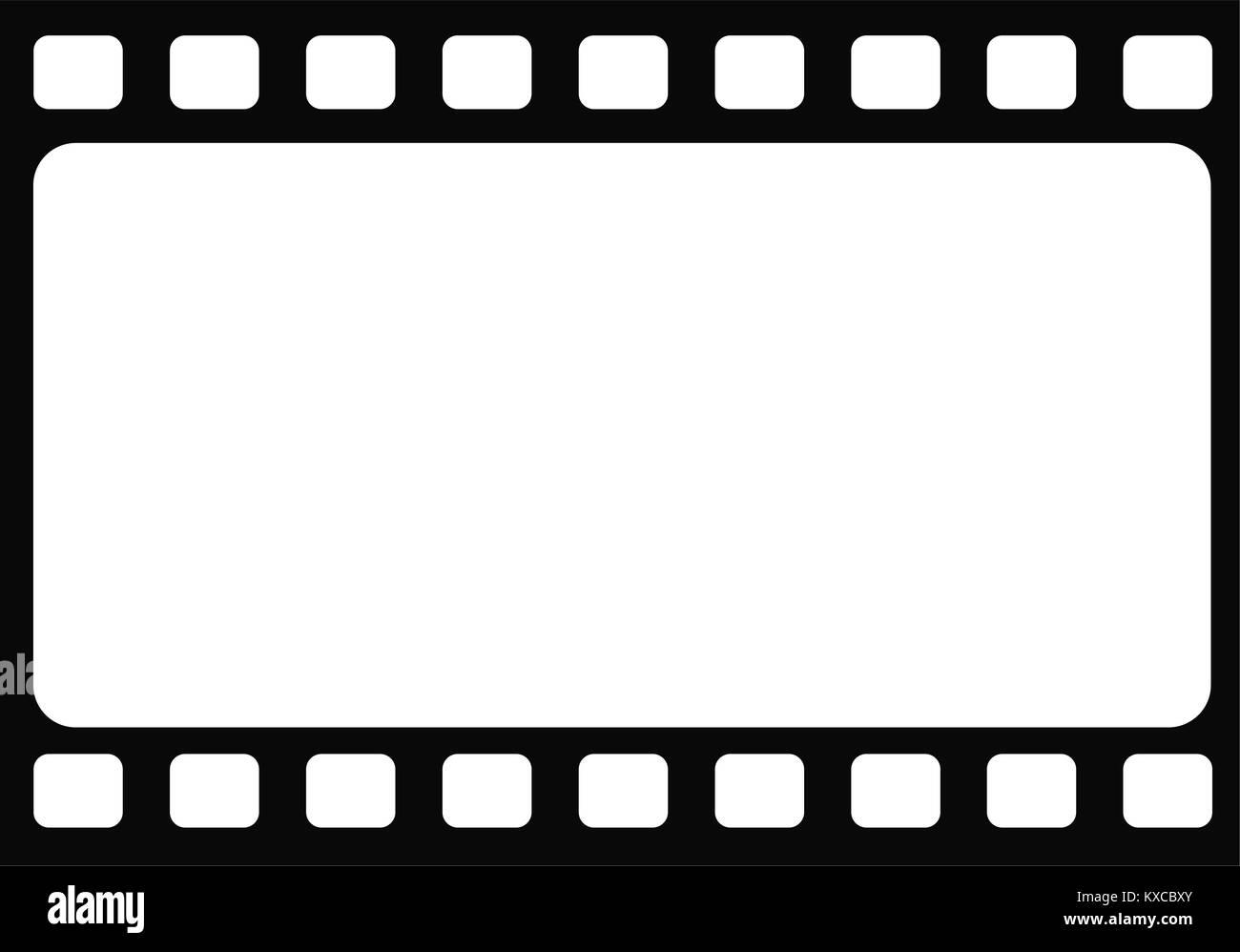 Die nahtlose horizontale leer Traditionelle retro Film frame Vorlage ...