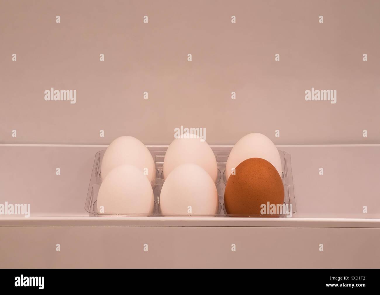 Kühlschrank Ei : Sechs eier in einem kühlschrank tür fahrgastraum die aus einer