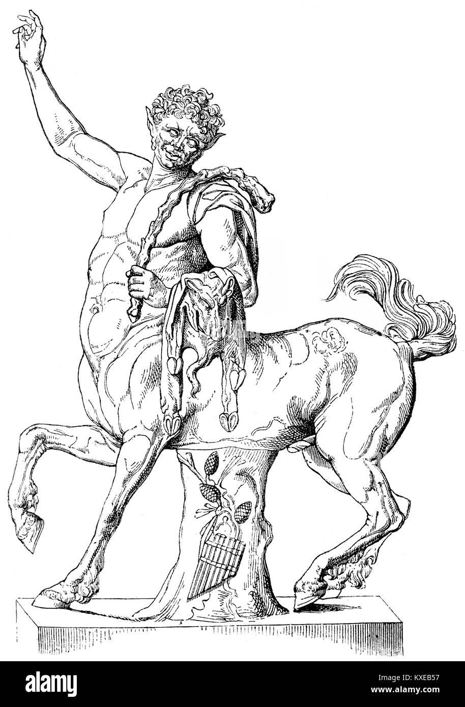 Ein kentaur, griechische Mythologie Stockbild