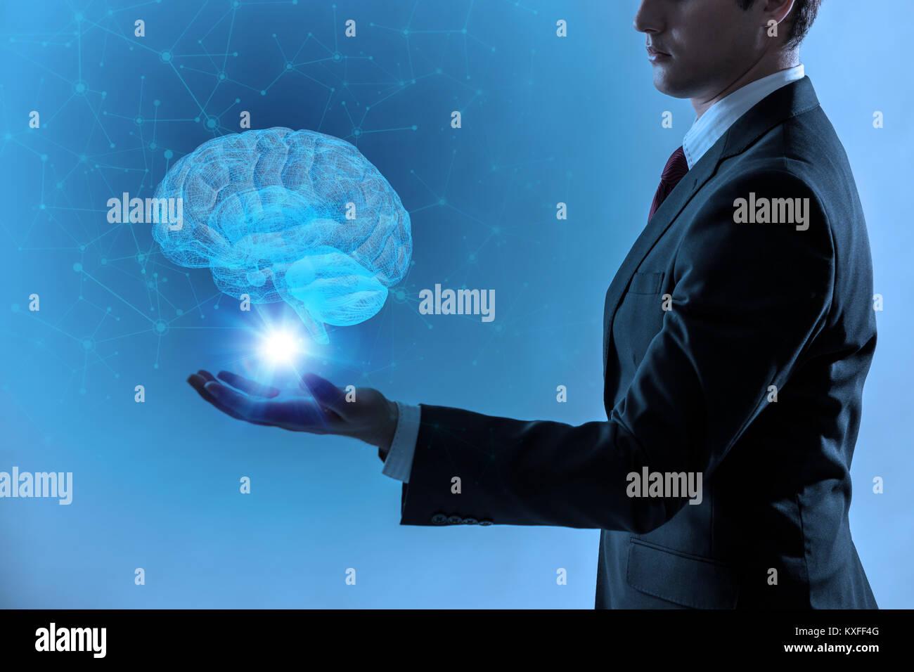 Ki (Künstliche Intelligenz) Konzept, 3D-Rendering Stockbild