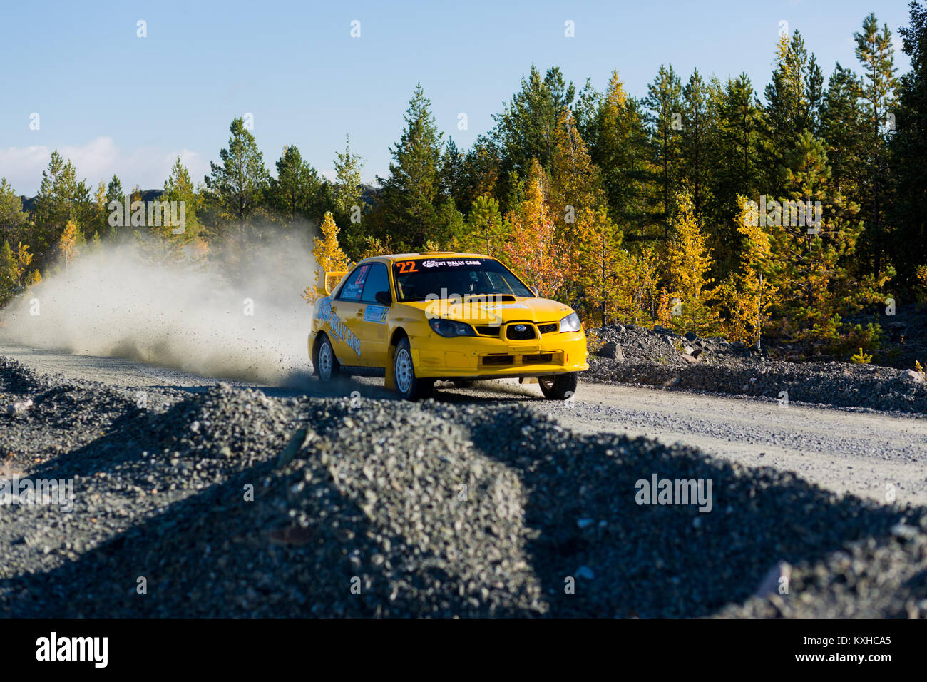 Asbest, Russland, September 17, 2017 - 16 Phase der Russischen Cup rally'S 2017 tilobite 2017', Auto Subaru Stockbild