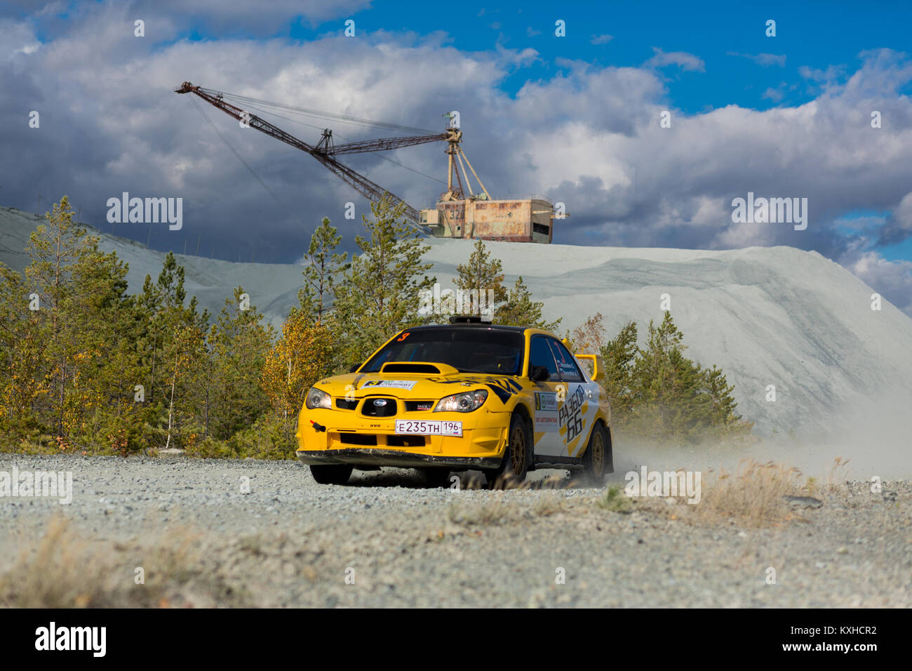 Asbest, Russland, September 17, 2017 - 16 Phase der Russischen Cup rally'S 2017 tilobite 2017', Subaru Impreza Stockbild