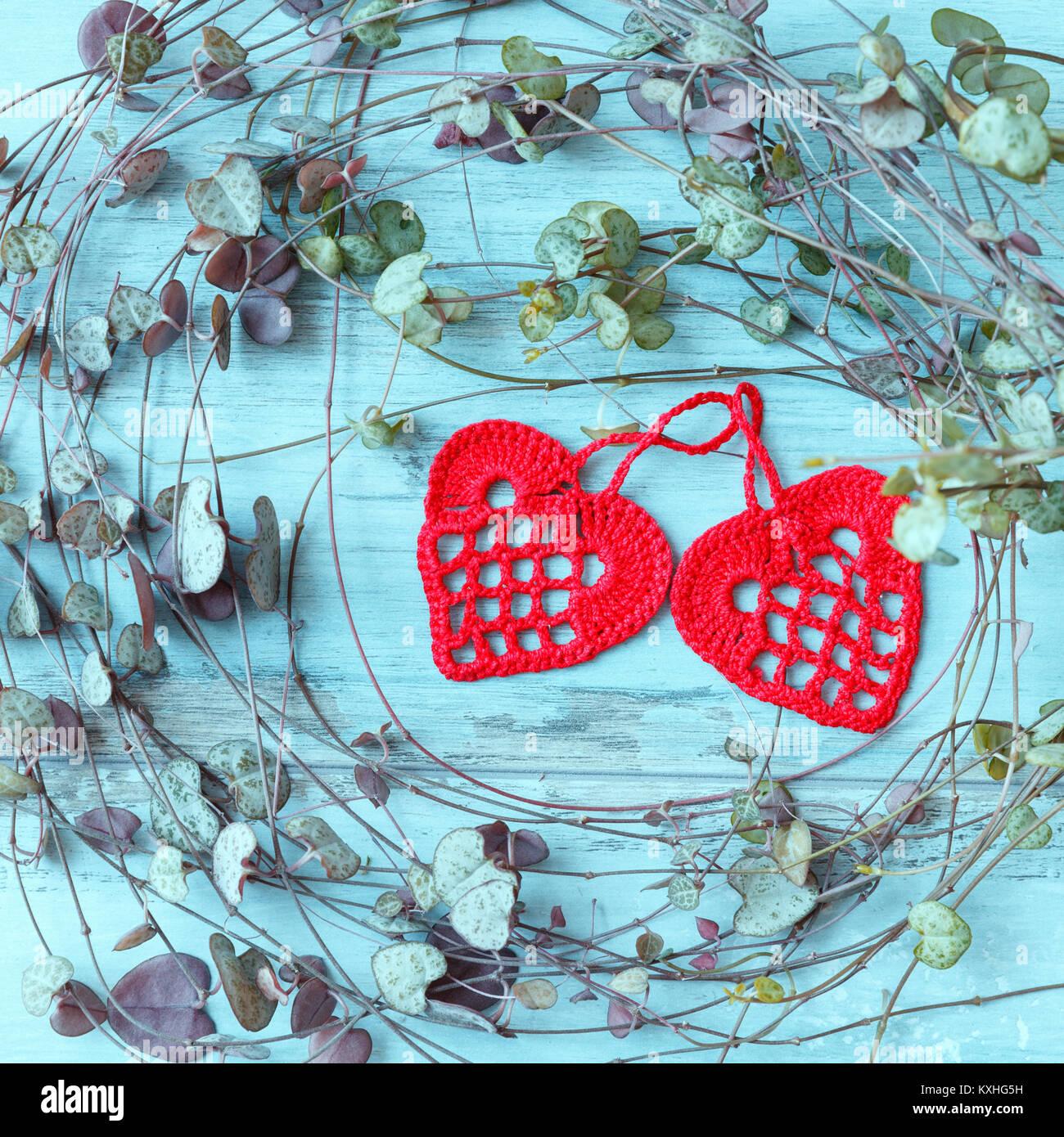Outstanding Rotes Herz Muster Für Häkeln Photos - Decke Stricken ...