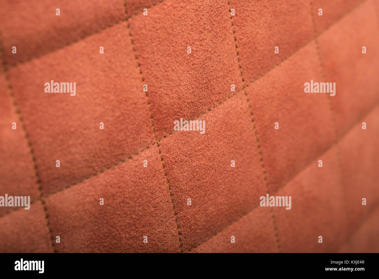 In der Nähe von Brown künstliche Wildleder Textur Stockbild
