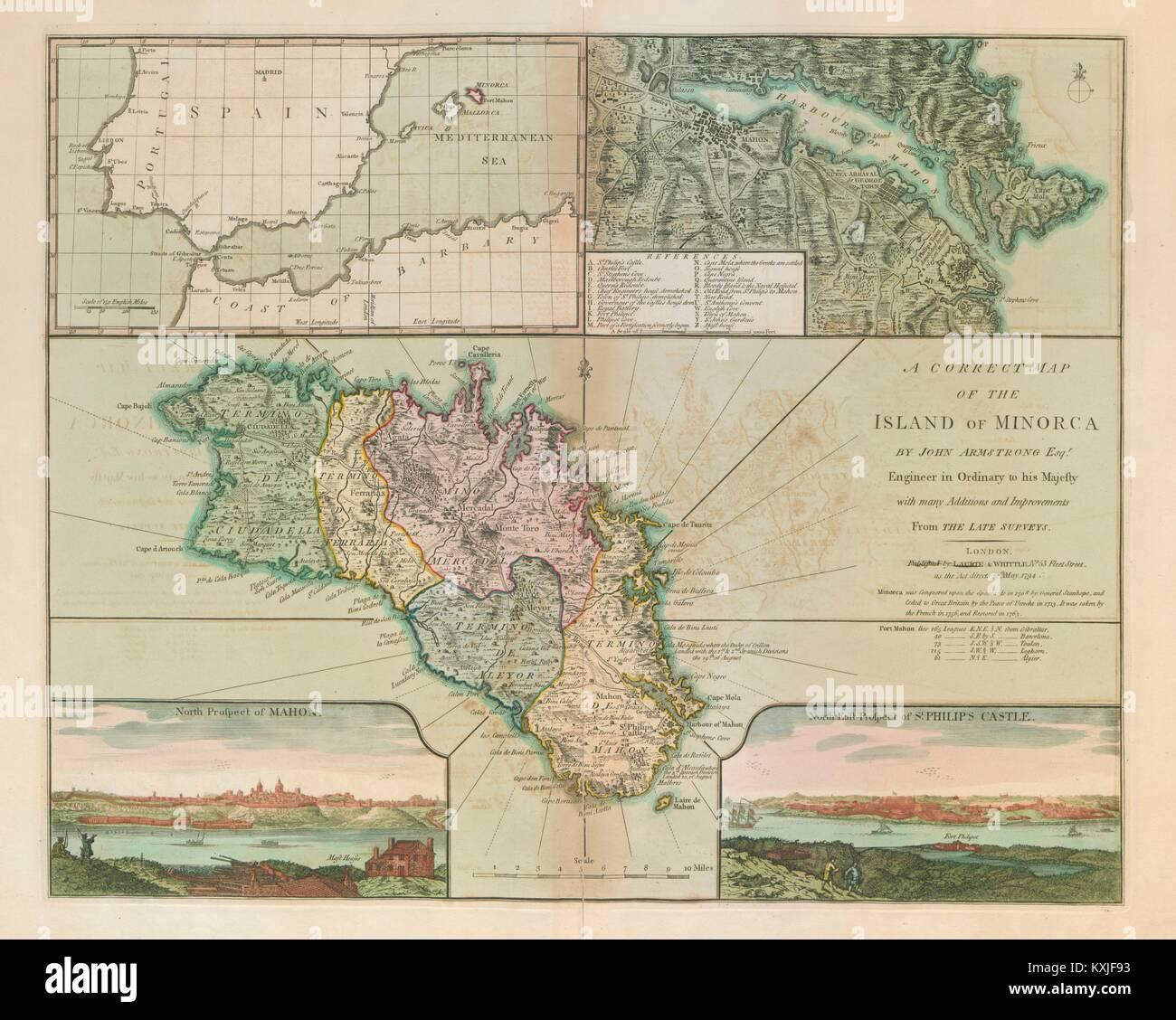 Insel Menorca Karte.Eine Richtige Karte Der Insel Menorca Von Laurie