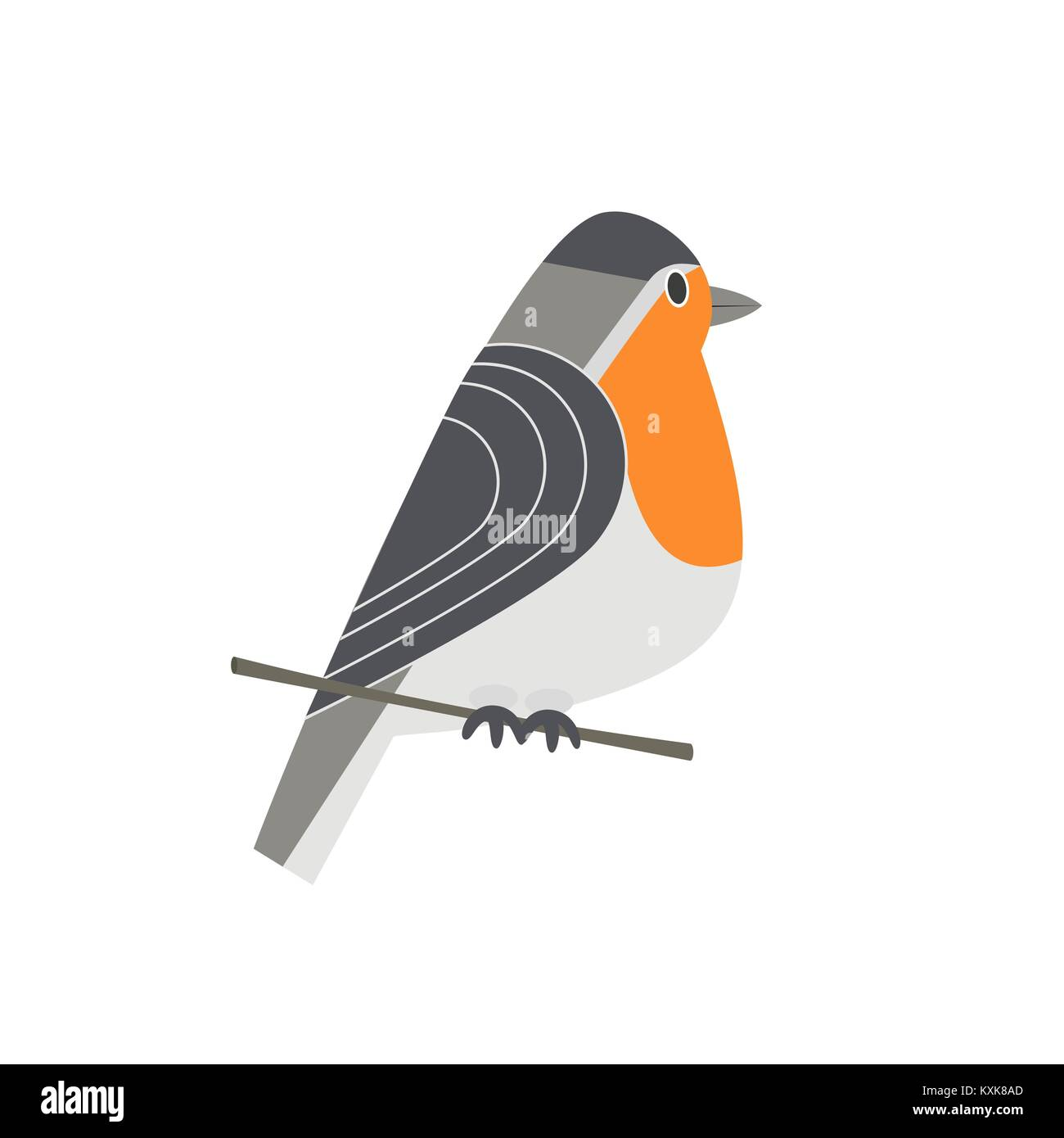 Robin Bird Drawing Vector Stockfotos & Robin Bird Drawing Vector ...