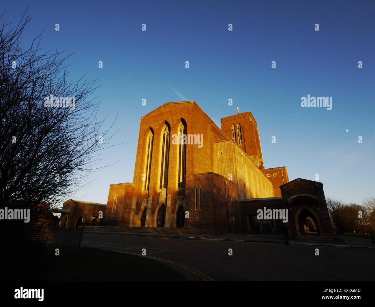 Guildford Cathedral, Guildford, Surrey, England, Großbritannien Stockbild