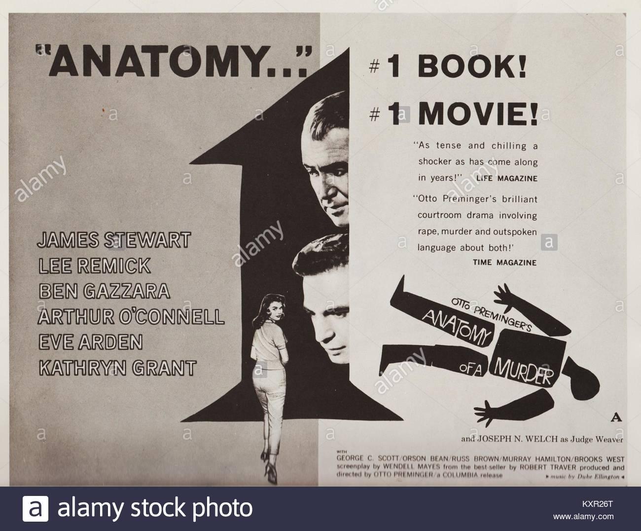 Anatomie eines Mordes, American crime Film 1959, gerichtssaal Drama ...