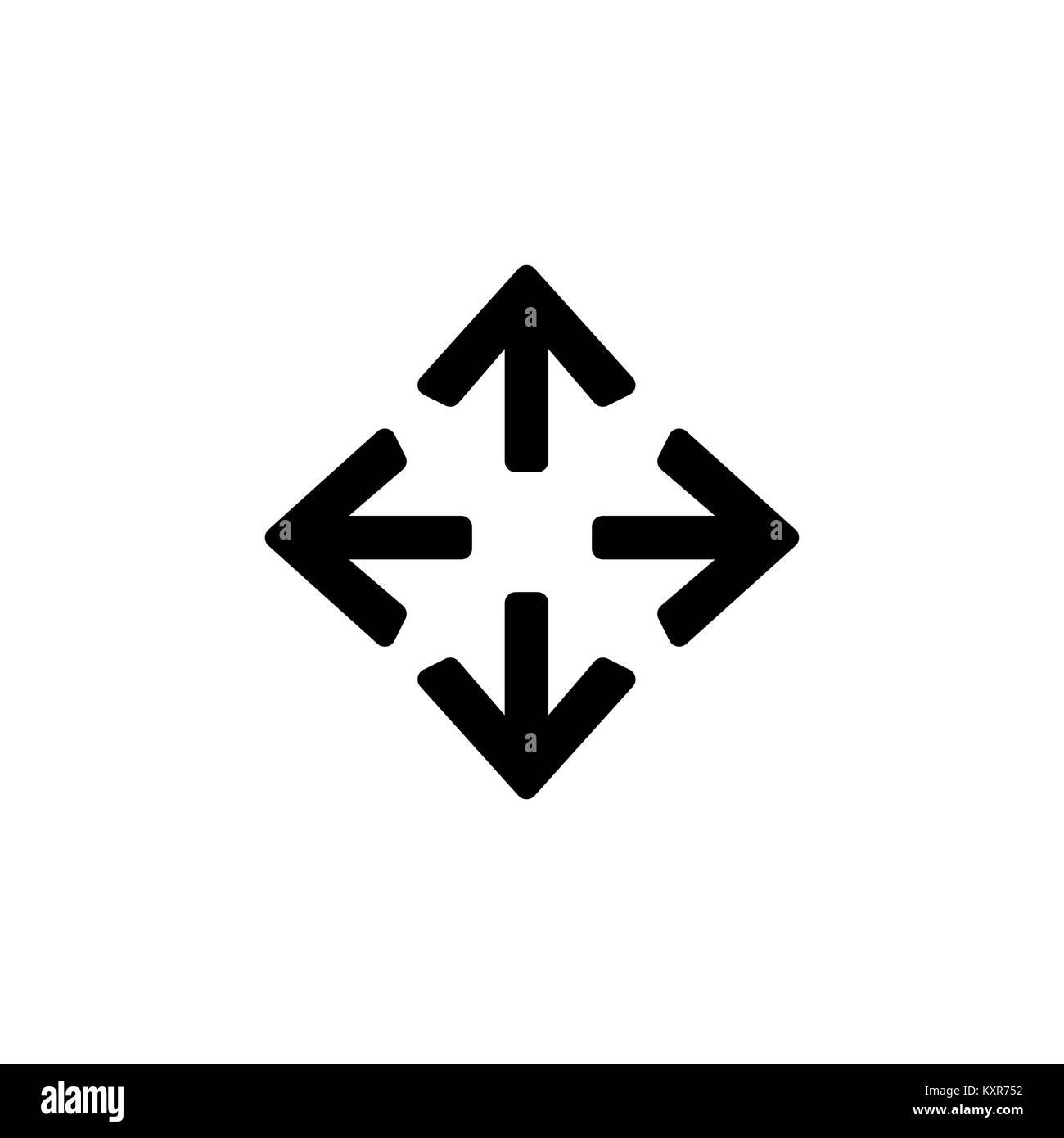 Pfeile Symbol für einfache Flat Style ui Design. Stock Vektor