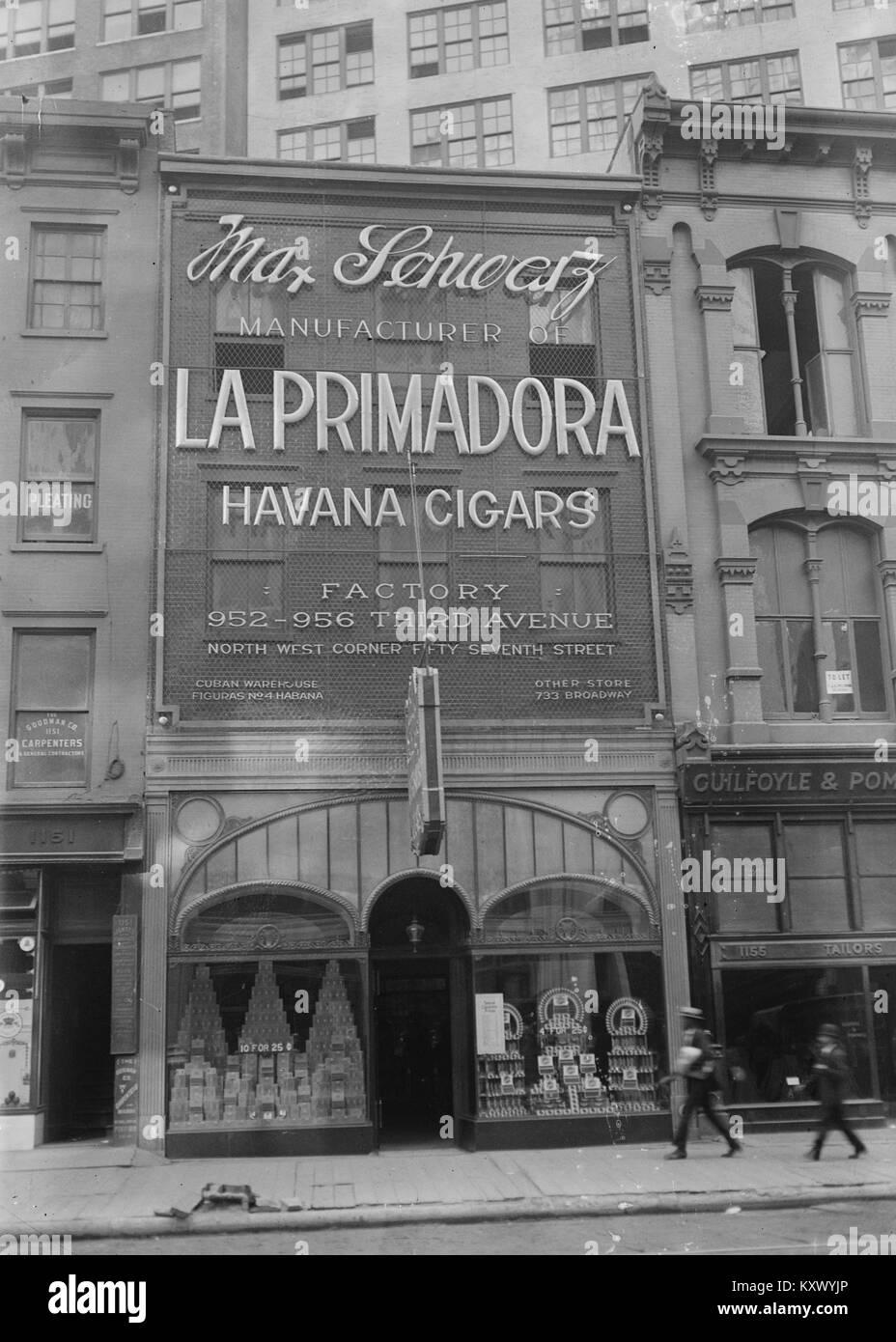 Max Schwartz Primadora-Havanna-Zigarren Stockbild