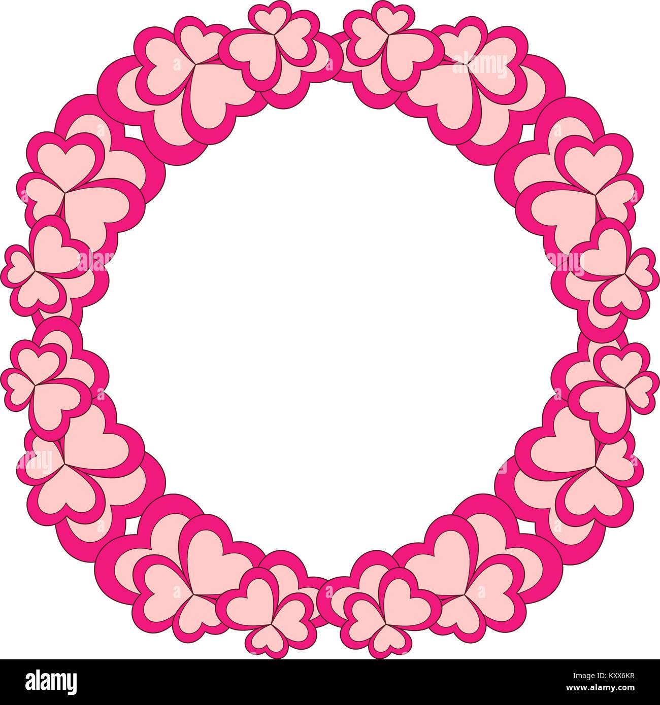 Blume bunten Rahmen Kranz für Valentinstag Karte Vektor Abbildung ...
