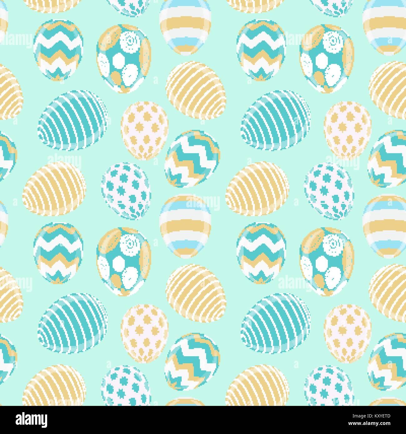 Frohe Ostern Niedliche Hintergrund Mit Eiern Vector Illustration