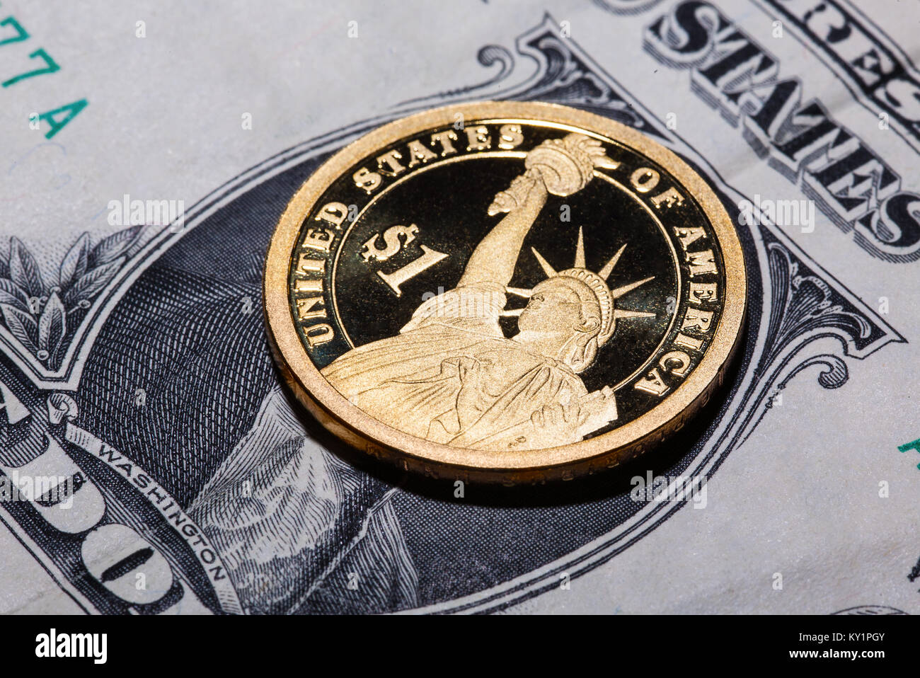 1 Statue Of Liberty Dollar Stockfotos 1 Statue Of Liberty Dollar