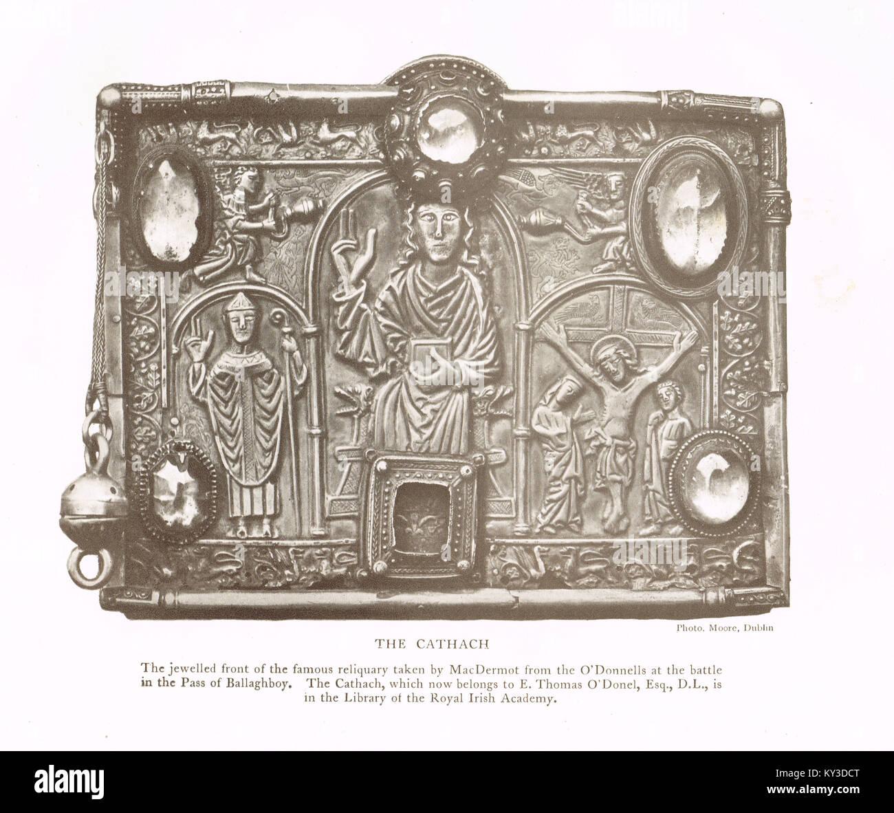 Für die Cumdach Cathach von St. Columba Stockbild