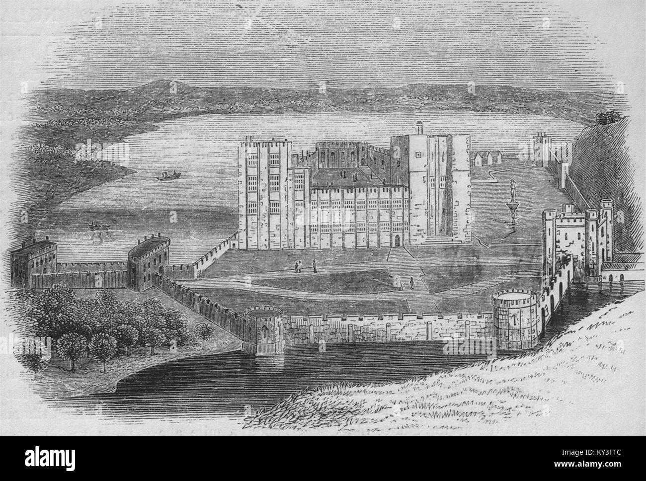 430 - Kenilworth Castle im Jahre 1620. Warwickshire 1845. Old England Stockbild