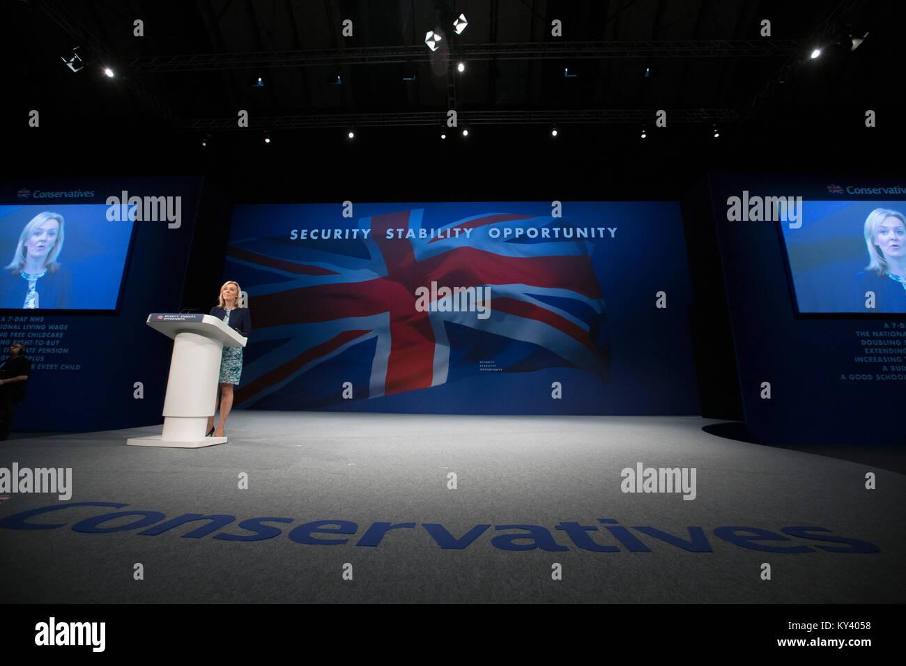 Die 2015 Konservative Partei jährlichen Konferenz in Manchester, England. Stockbild