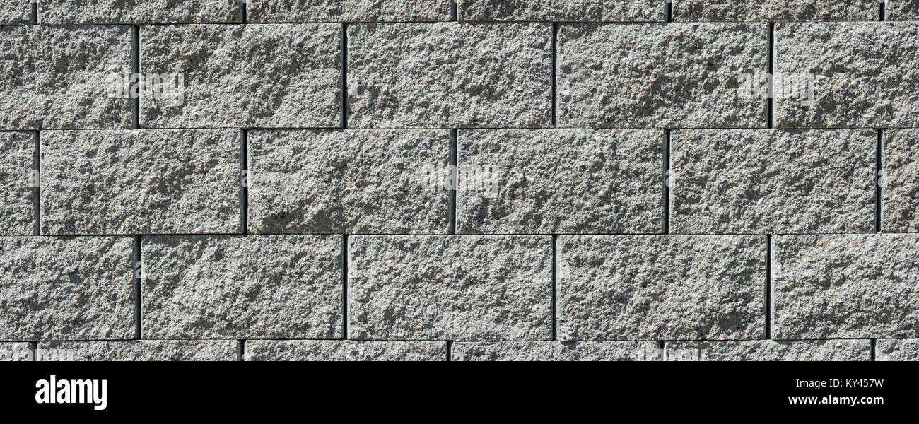 Graue Wand Aus Stein Steine. Schönen Weitwinkel  Textur Aus Beton.