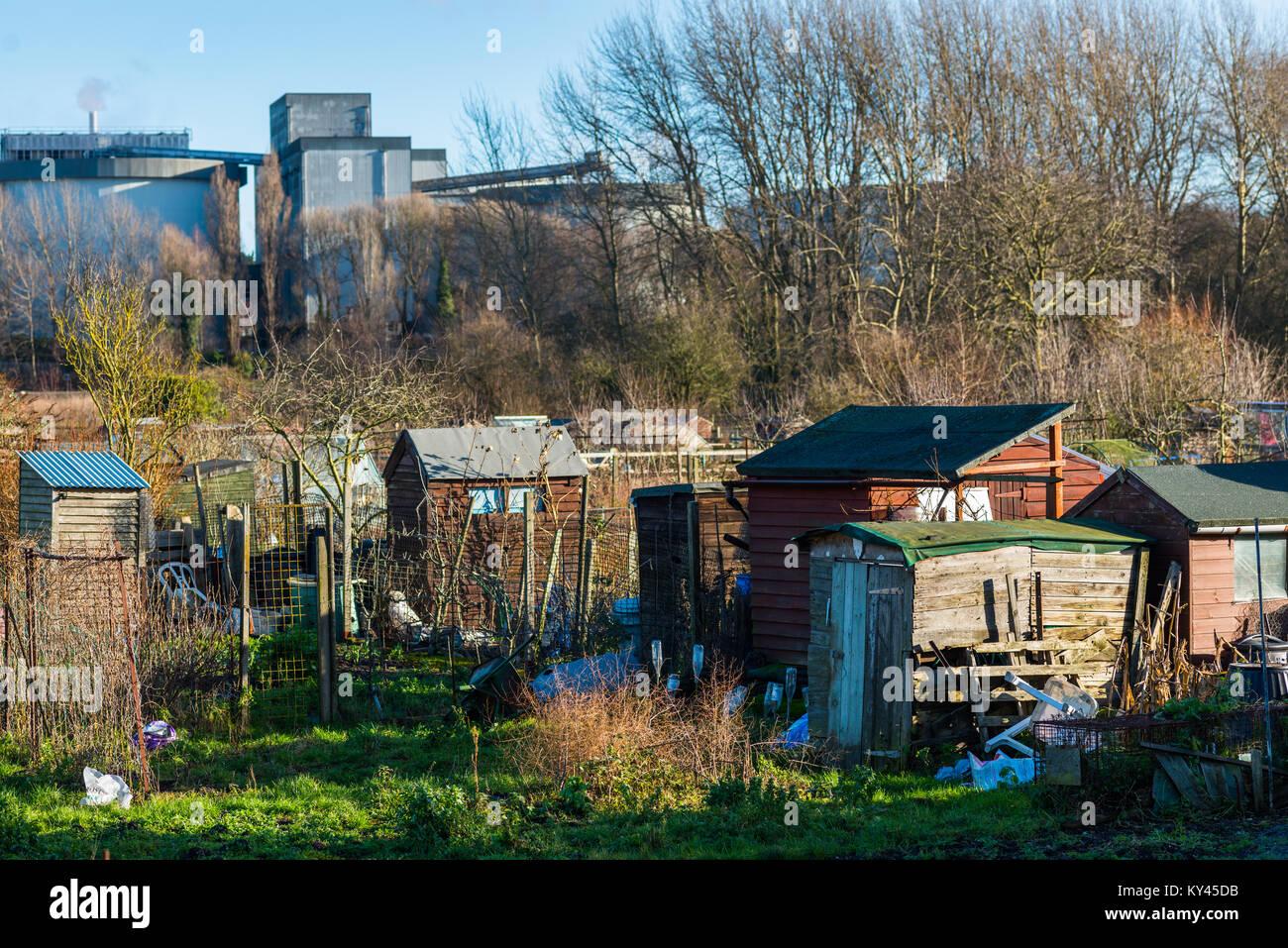Zuteilungen in Bury St. Edmunds, Suffolk, England, UK. Stockfoto