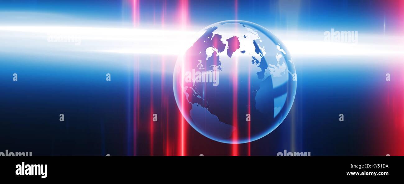 Globale Technologie-Hintergrund Stockbild