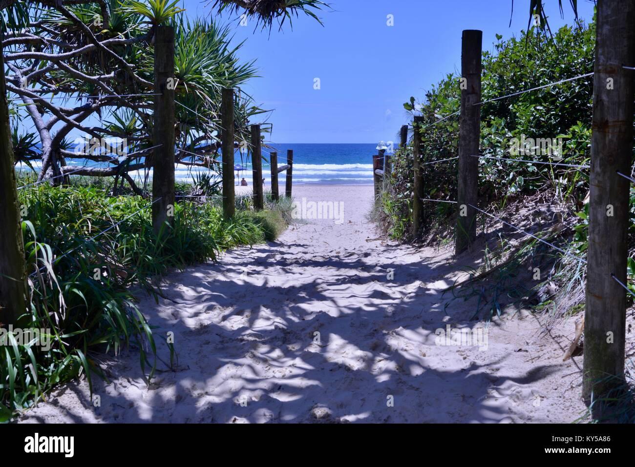 Mudjimba Beach, Sunshine Coast, Queensland, Australien Stockbild