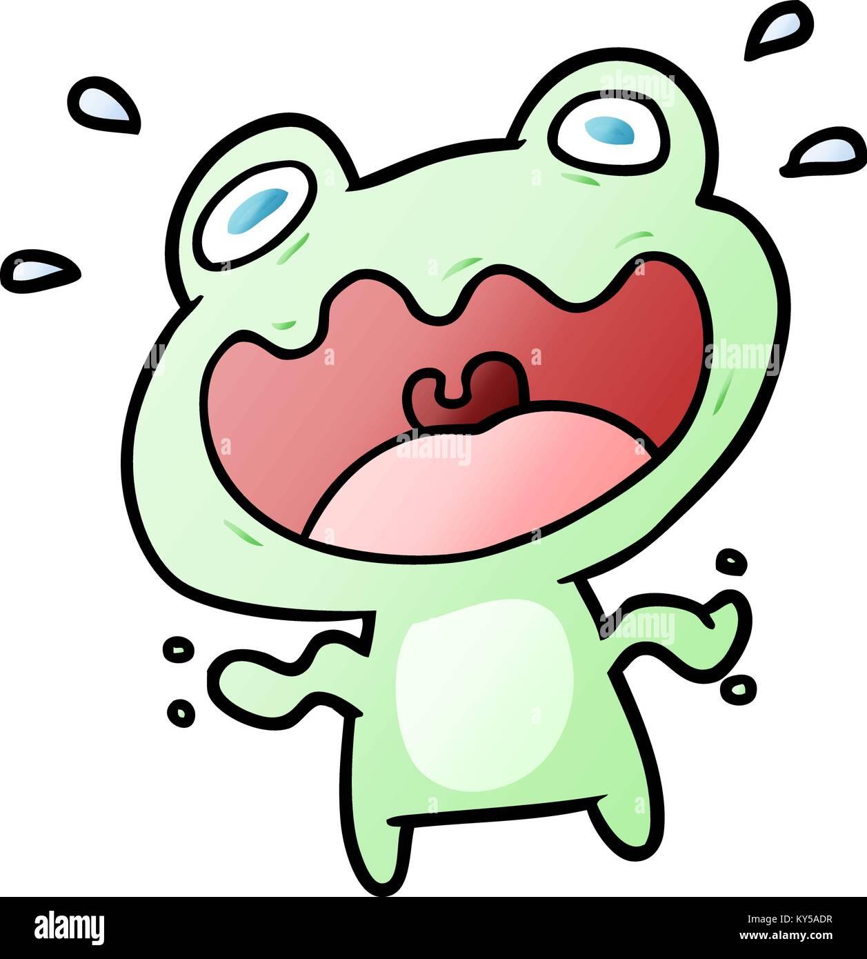 Cute cartoon Frosch Angst Stock Vektor