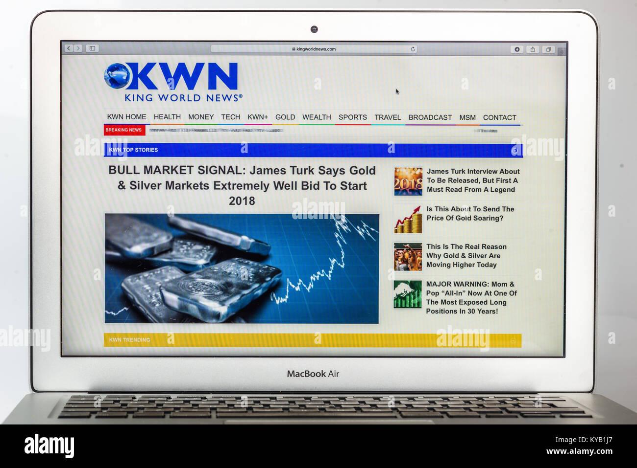 King World neue alternative Financial News Media Site (nur redaktionelle Nutzung) Stockbild