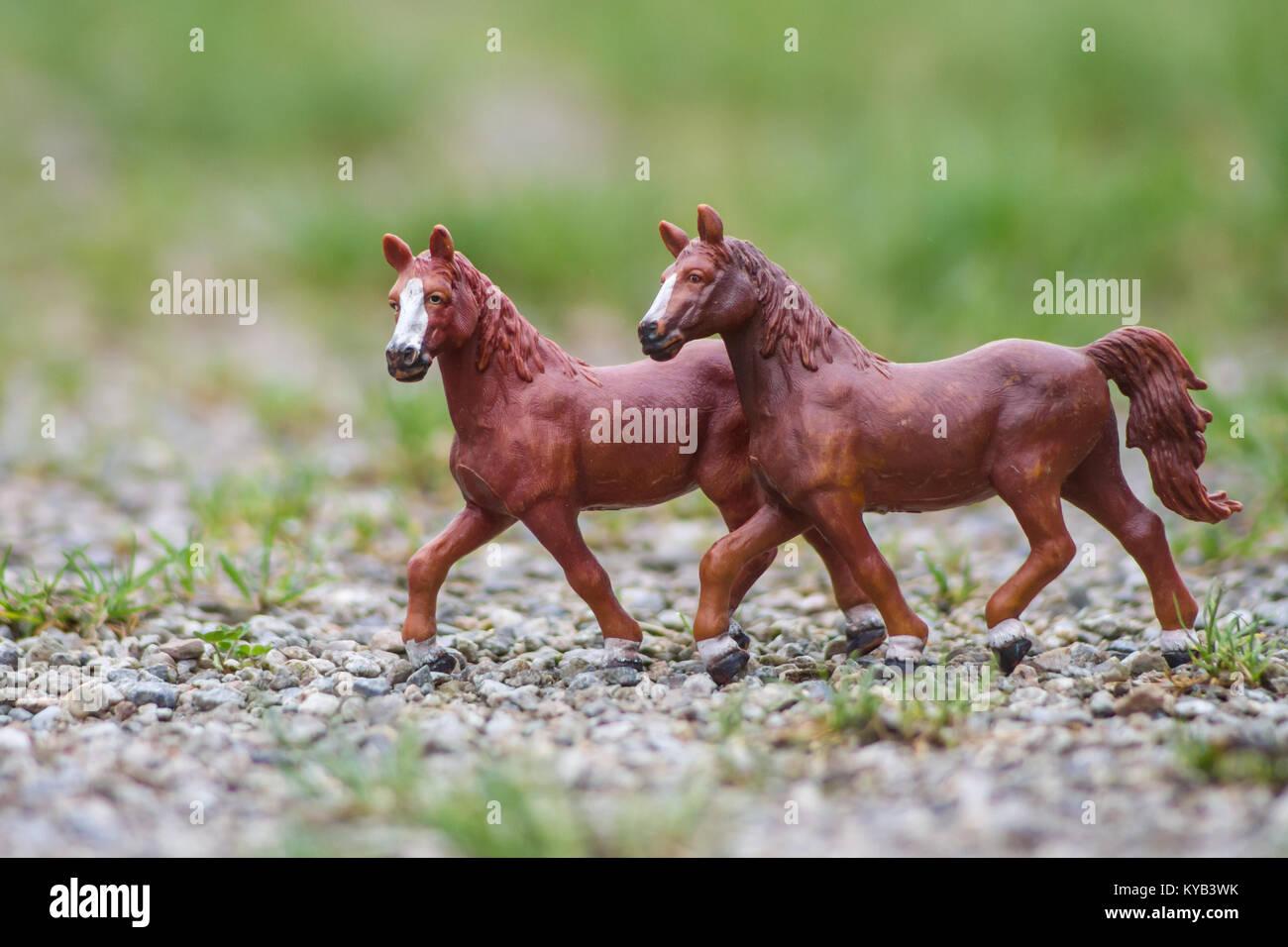 kinderspielzeug, schleich modell pferde stockfoto, bild: 171733567
