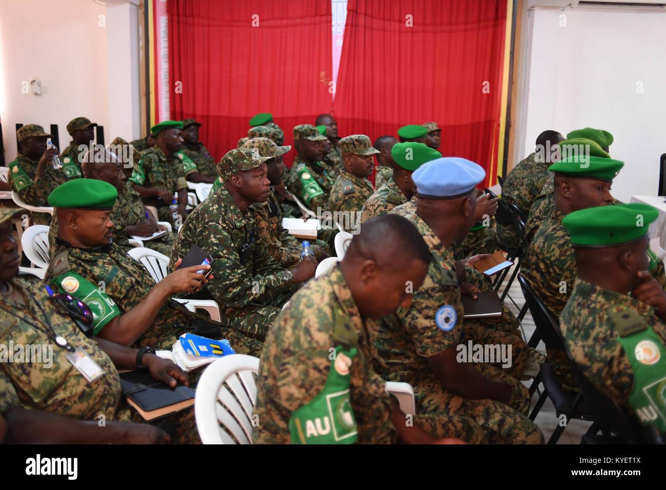 Ugandischen Militärs im Rahmen der Mission der Afrikanischen Union ...
