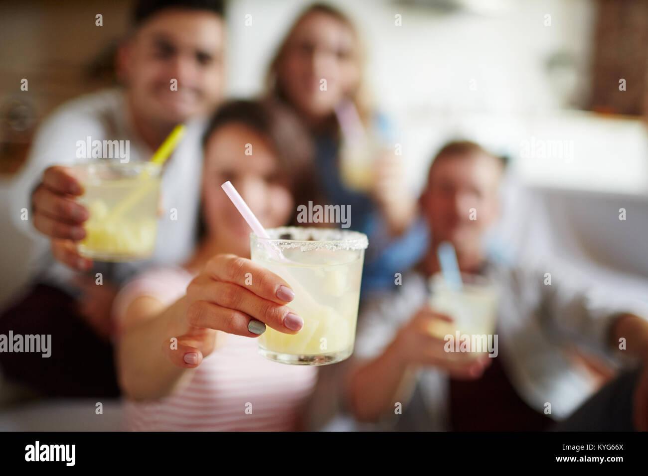 Kühles Getränk Stockbild