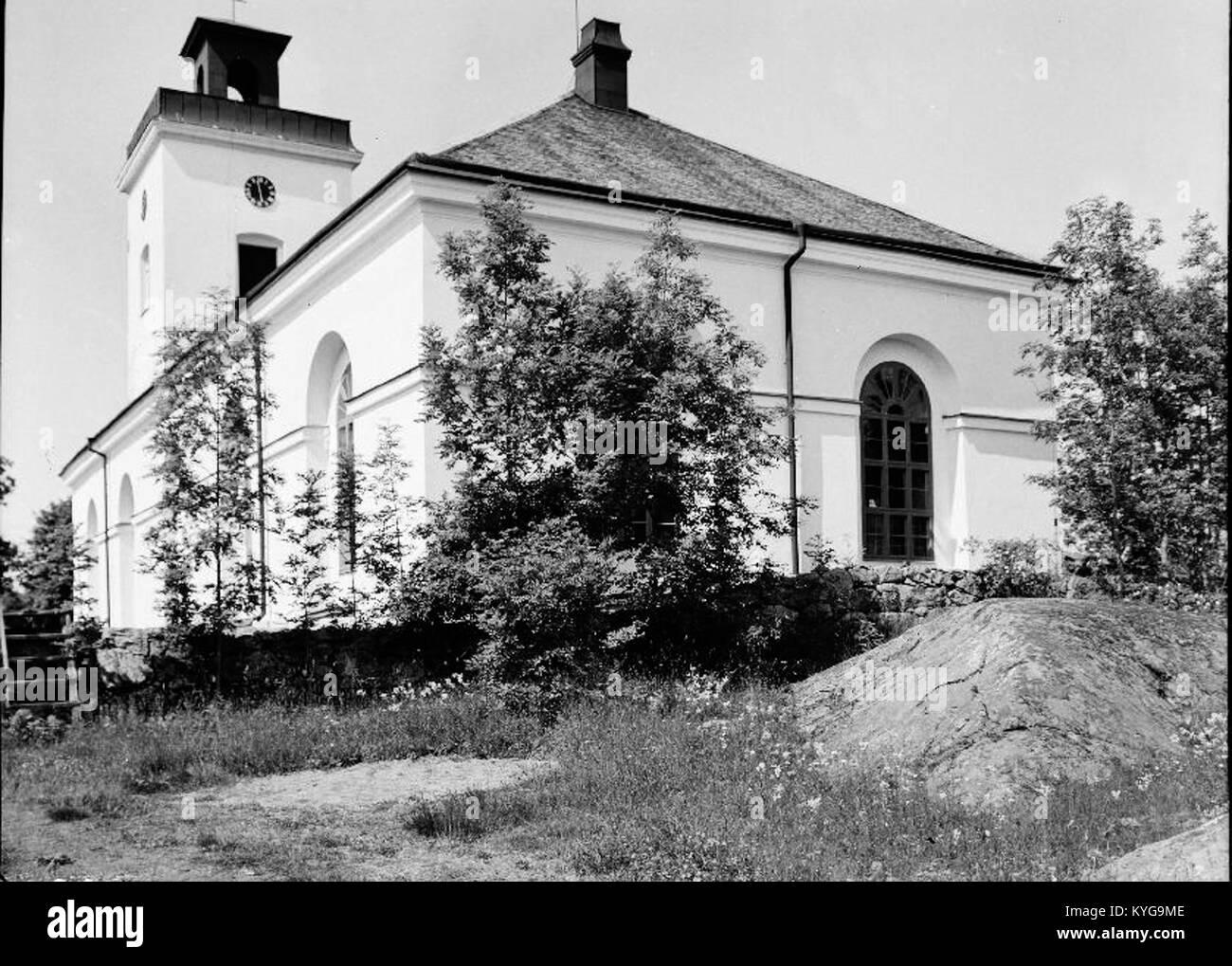 Rådmansö kyrka - KMB-16000200127775 Stockfoto