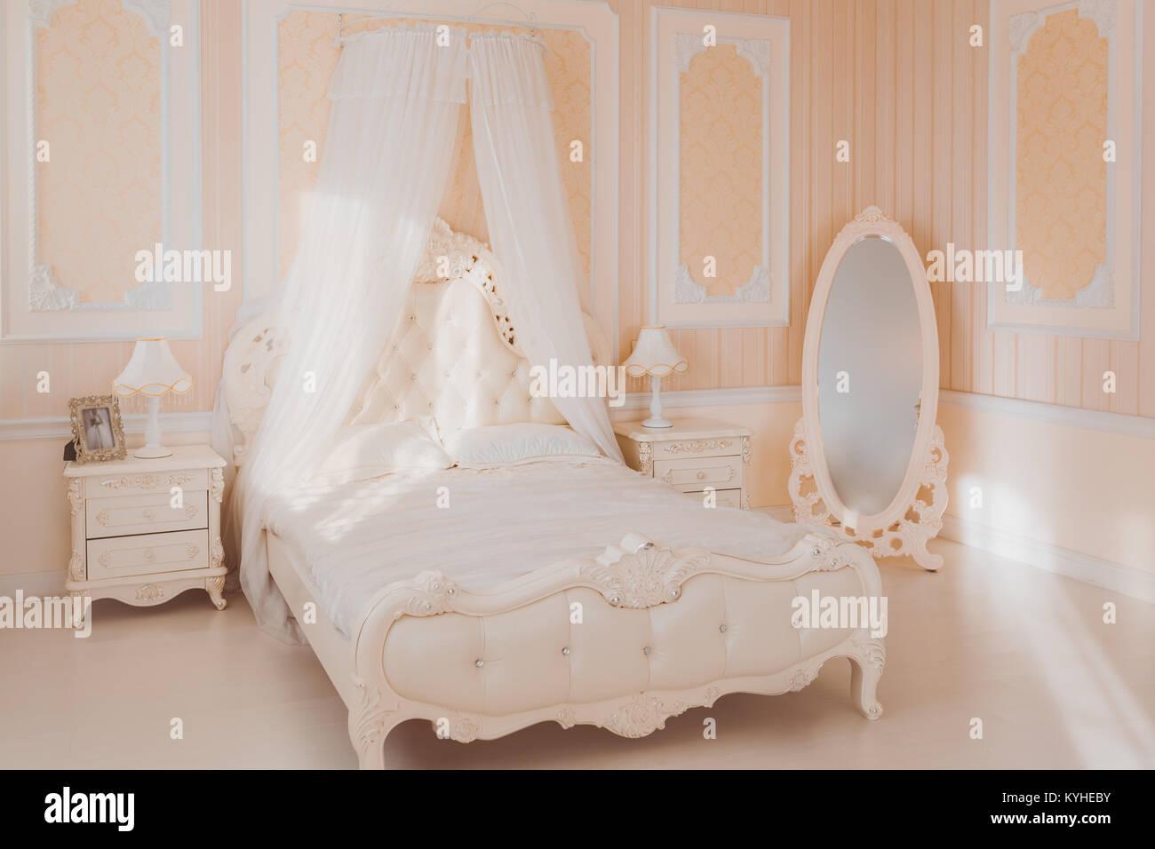 Innen Weiß Luxus Schlafzimmer