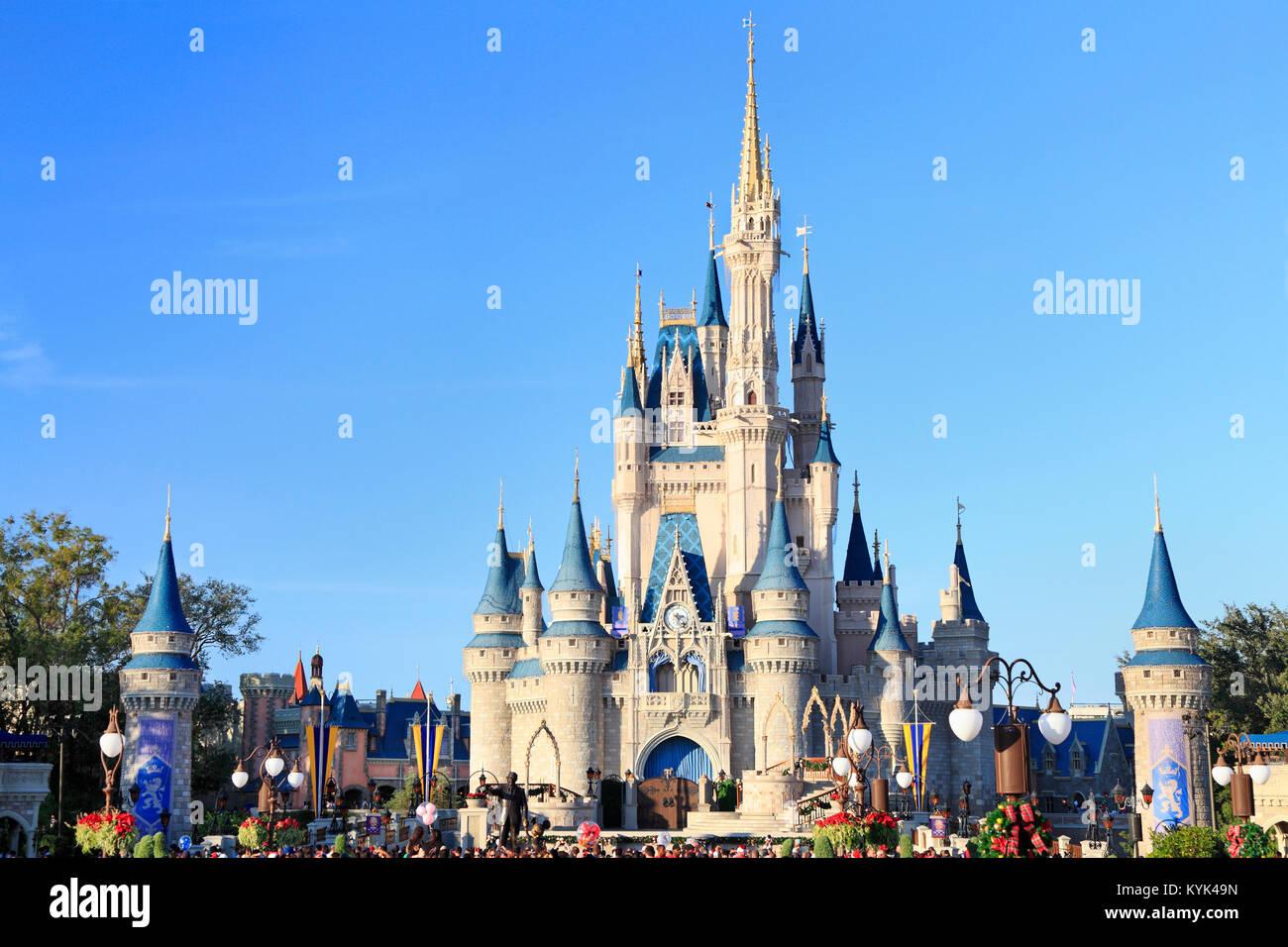 Cinderella Schloss in Magic Kingdom, Disney, Orlando, Florida Stockbild
