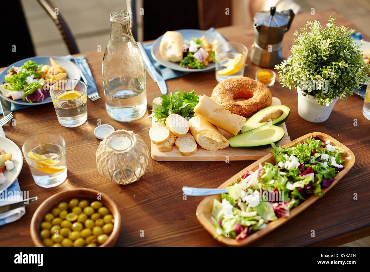 Essen für Vegetarier Stockbild