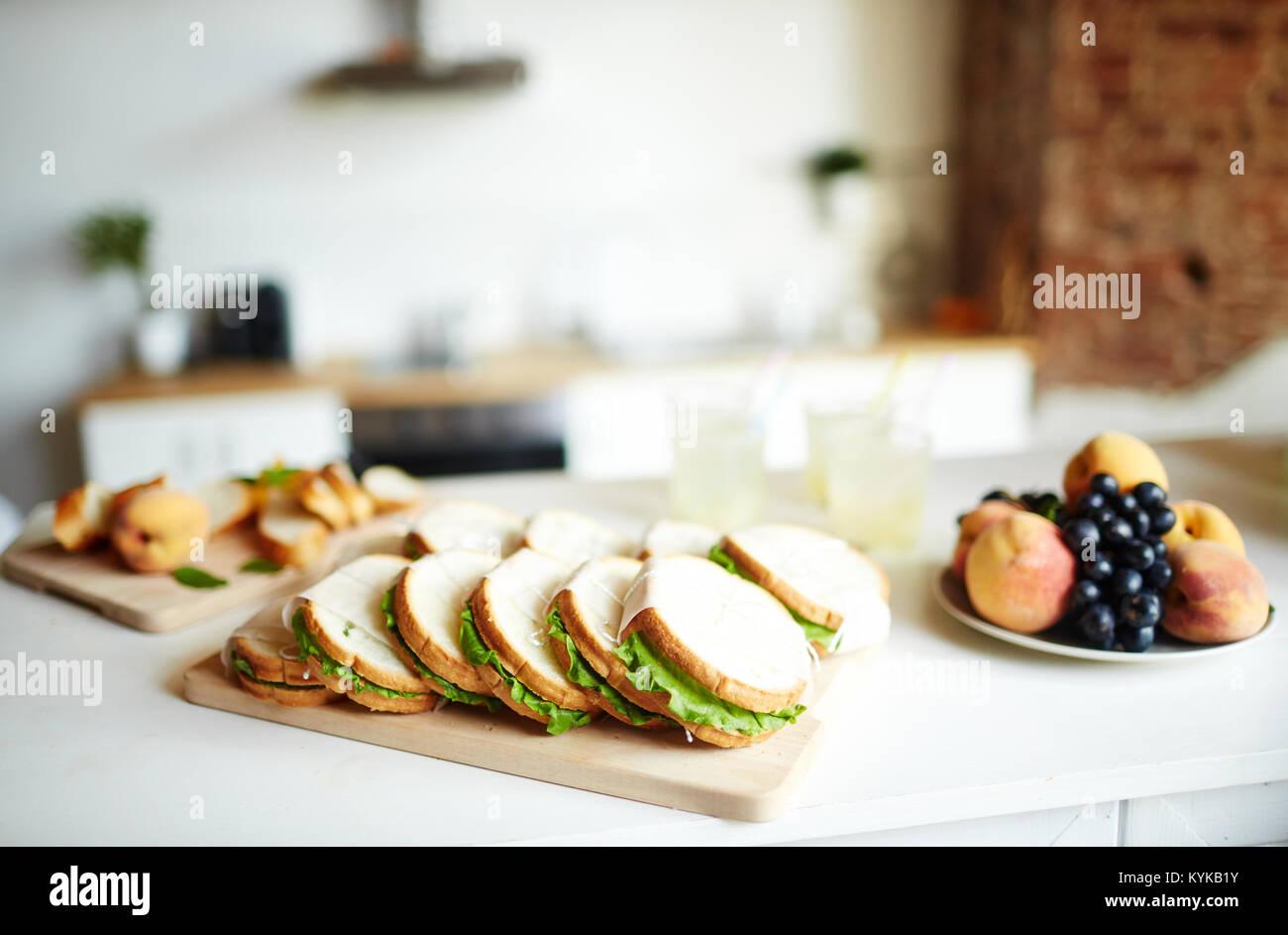 Essen für Gäste Stockbild