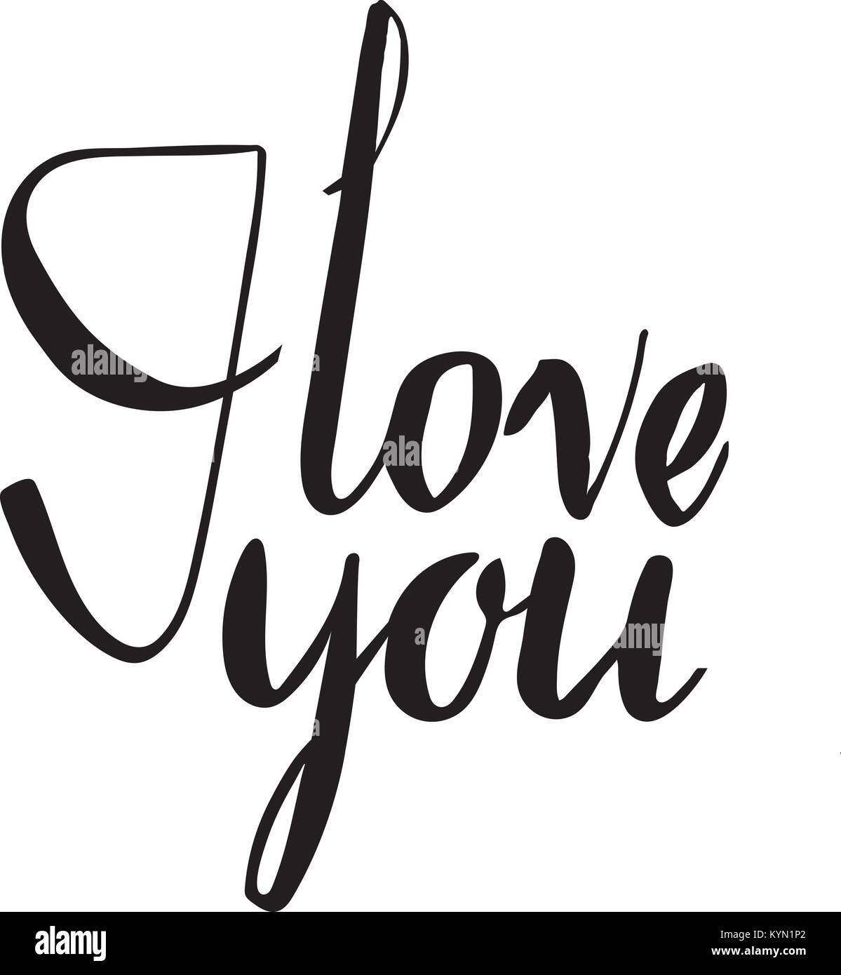 Ich liebe Dich. Ich liebe Sie. Valentines Tag Kalligraphie Karte ...