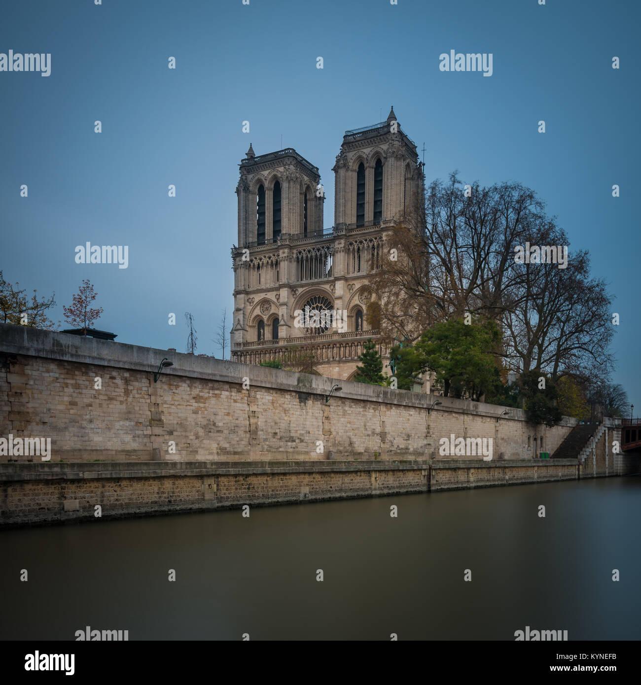 Cathédrale Notre-Dame de Paris, Notre Dame de Paris, Paris, Frankreich Stockfoto