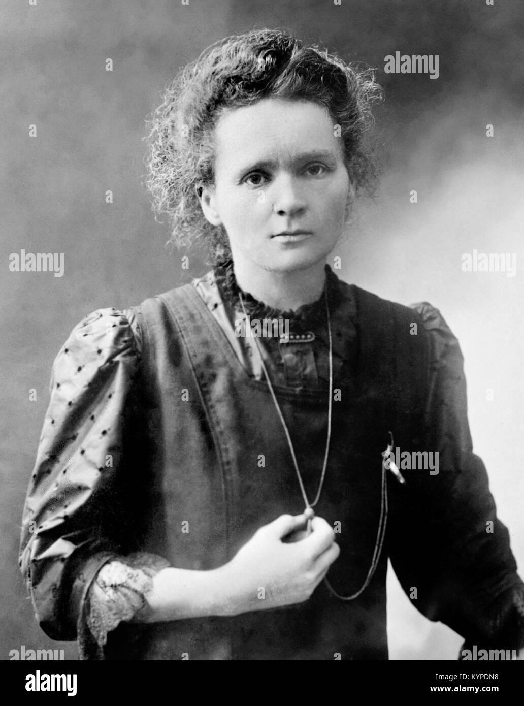 Marie Curie. Mit dem Nobelpreis ausgezeichneten Wissenschaftler, Marie Sklodowska Curie (1867-1934). Foto fromm Stockbild